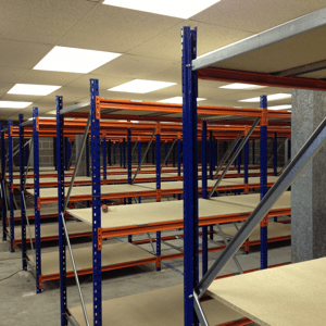New longspan warehouse shelving