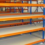 5 bays of new hand loaded longspan shelving (3000mm high x 400mm deep x 1500mm wide 4 shelves)