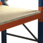 Timber decking for pallet racking - close boarded
