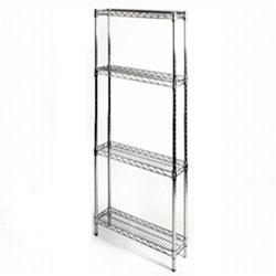 8 d x 24 w chrome wire shelving w 4 shelves