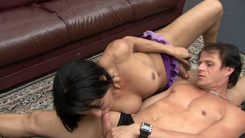 Ladyboy heels deep throat tube