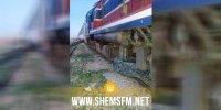 محطة زنوش: عجلة كبيرة على السكة تتسبب في جنوح محور عجلات قطار مسافرين