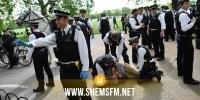 لندن: القبض على 19 شخصا خلال احتجاج على التباعد الاجتماعي