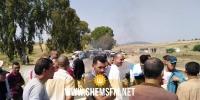 فرنانة: عدد من الفلاحين يغلقون الطريق الوطنية عدد 17