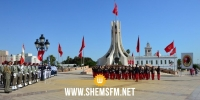 الذكرى 64 لانبعاث الجيش الوطني: موكب رفع العلم  بساحة القصبة (صور)