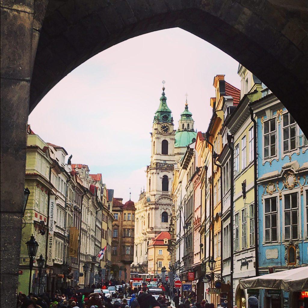 View of Mala Strana Prague Czech Republic