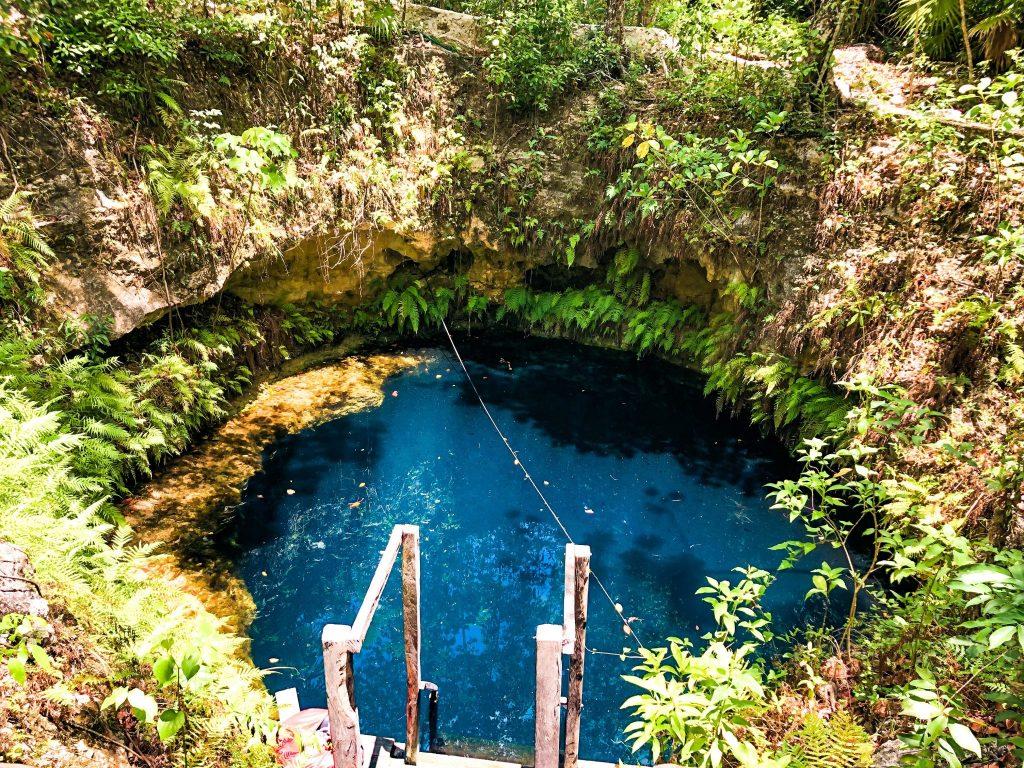 blue maravilla cenote puerto morelos mexico