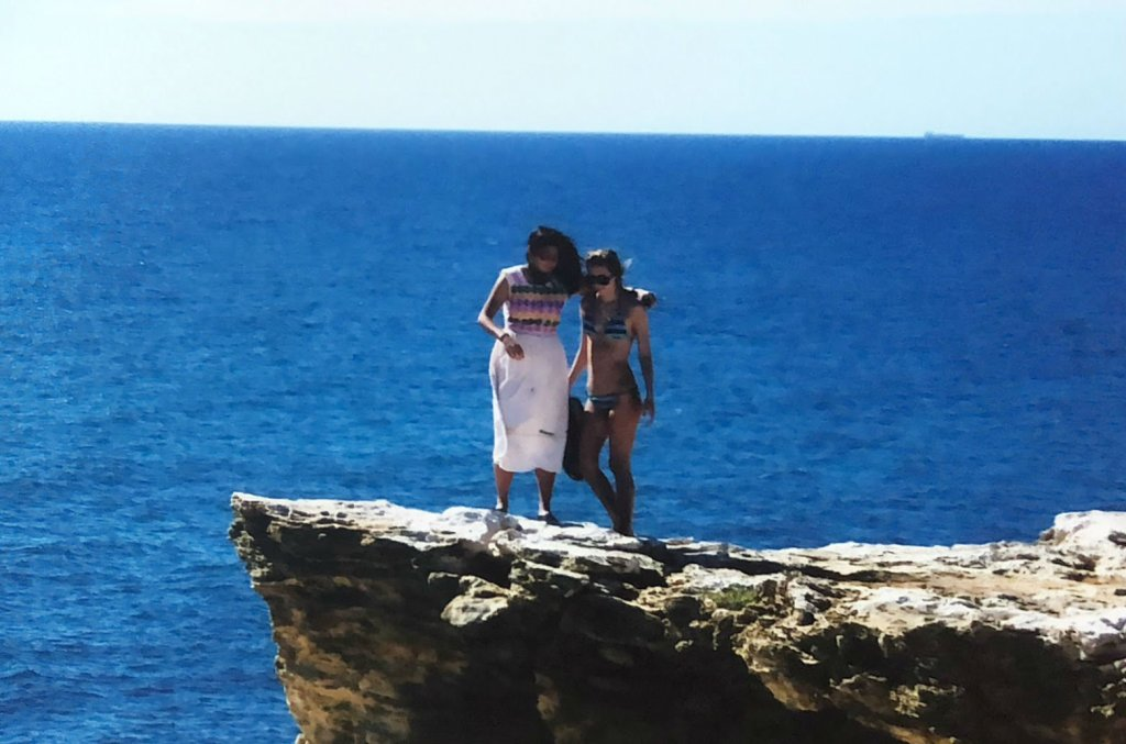 two women on cliffs cabo rojo puerto rico