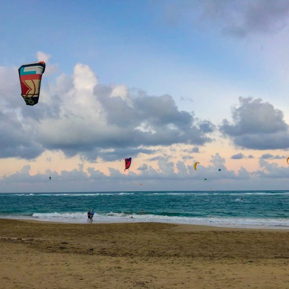 kiteboarding on kite beach in cabarete dominican republic