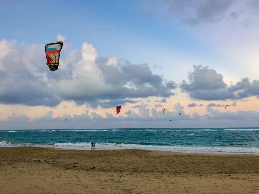 kiteboarding on kite beach in cabarete dominican republic