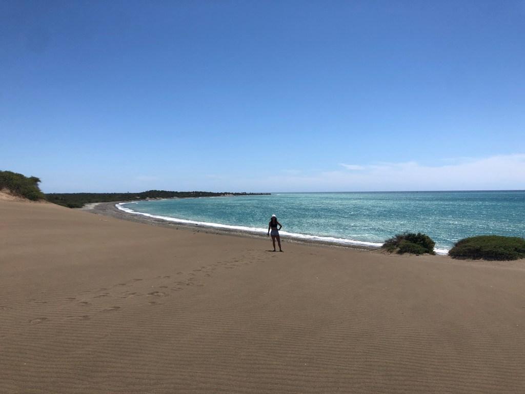 sand dunes and ocean bani dominican republic