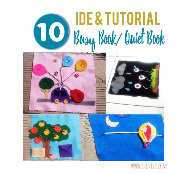10 Ide Dan Tutorial Membuat Buku Flanel Busy Book Quiet Book Tanpa