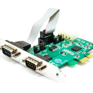 PCIe ESD 2 port RS232 Serial Card High Speed 921.6K