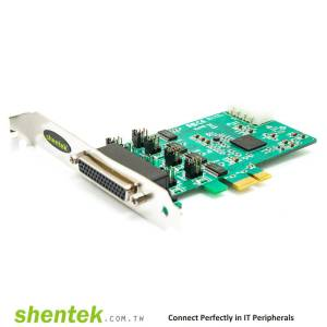 4 port High Speed Serial RS232 PCIe(PCI Express) card support 5V/12V/DCD or 5V/12V/RI Selectable and Standard and Low Profile Bracket