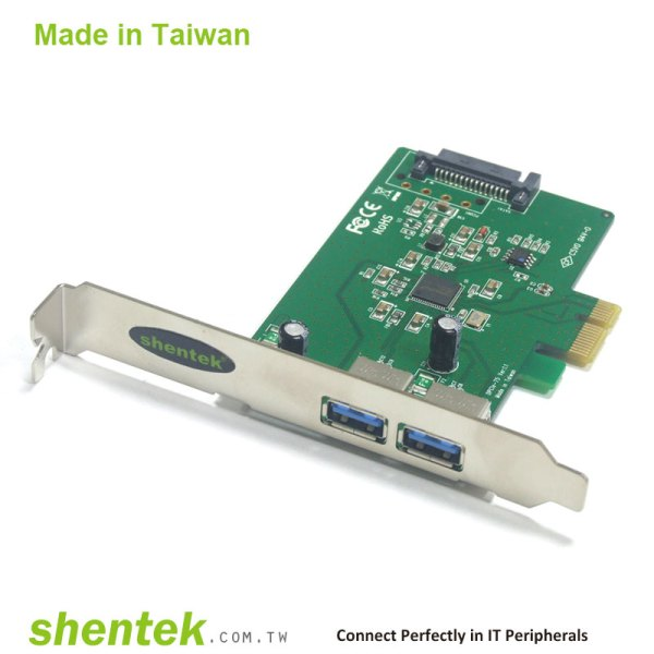 2 port SuperSpeed+ USB 10G (USB 3.1 Gen 2) A type PCI Express x1 lane Card supports Standard and Low Profile Bracket