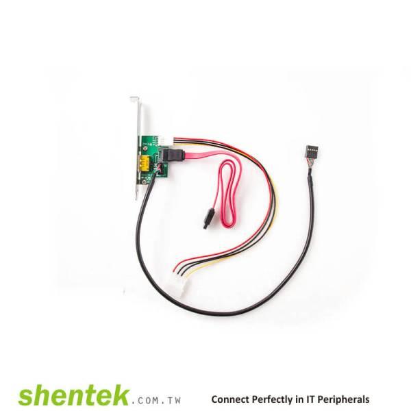 1 port Power eSATAp / USB2.0(Power Over eSATA, eSATA/USB) Adapter Card supports Dual Power 5V and 12V, support Low Profile Bracket Power over eSATA, Power eSATA, eSATA/USB Combo, eSATA USB Hybrid Port (EUHP)