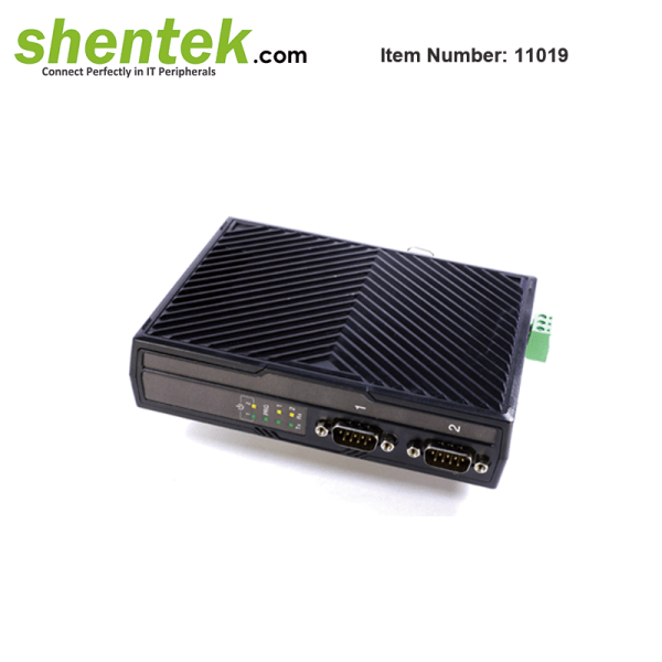 2 port RS232 Serial Device Server Over IP