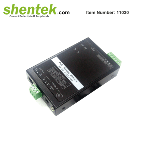 serial RS232 RS422 RS485 device server PoE PD
