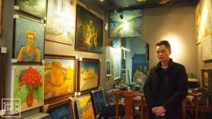 深セン大芬村「世界で一番ゴッホを描いた男」画廊訪問インタビュー