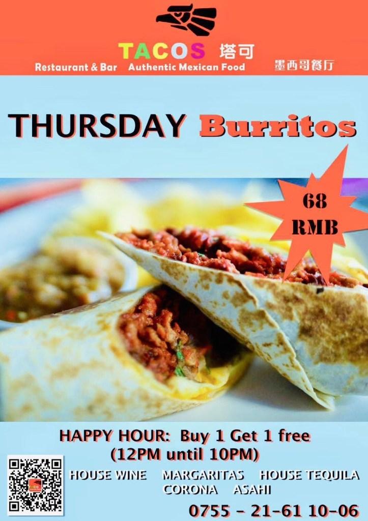 TACOS Thursday Burritos