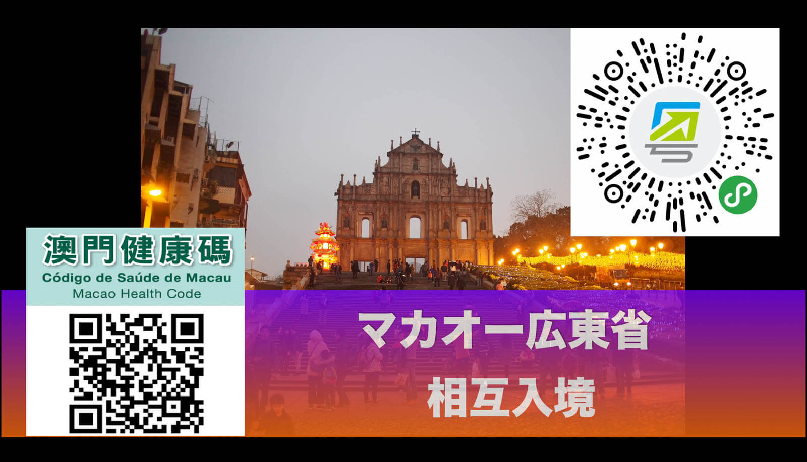 【マカオー広東省】相互入境開始!健康カード登録方法・入境ガイド