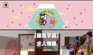 【求人情報】語学学校「猫音学園」(ビザサポート)日本から働けるオンライン講師も募集中!