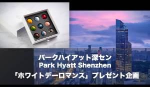 パークハイアット深セン「ホワイトデーロマンス」Shenzhen Fan限定プレゼント企画!