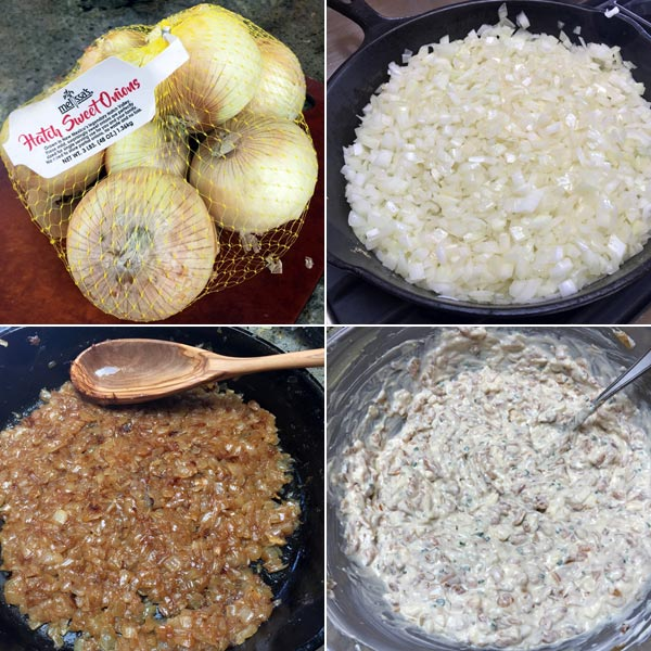 making onion dip from Once Upon A Chef Cookbook