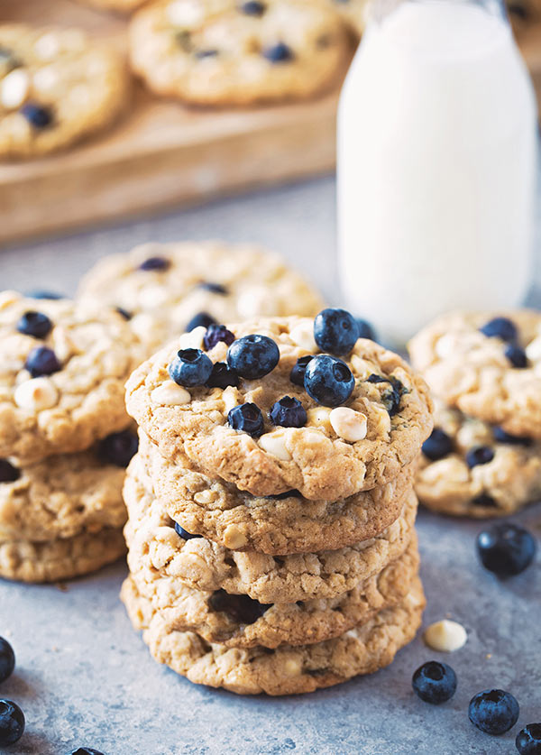 Blueberry - White Chocolate Oatmeal Cookies