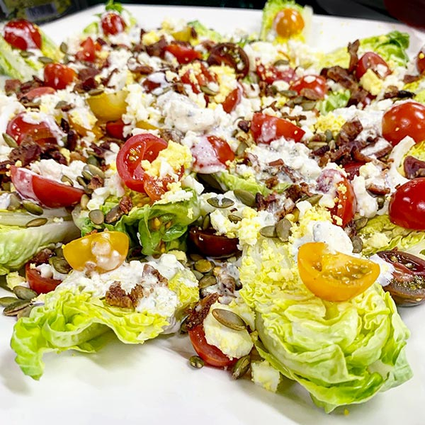 Romaine Wedge Salad with Sieved Egg from 101 Epic Dishes Cookbook