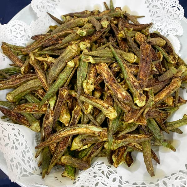 Fried Okra Chips from The Karachi Kitchen