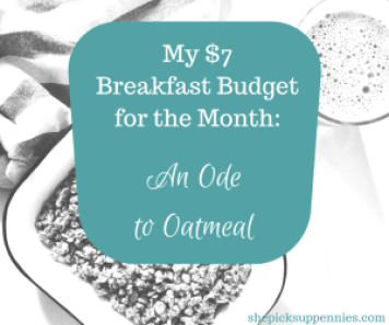 $7 Monthly Breakfast Budget