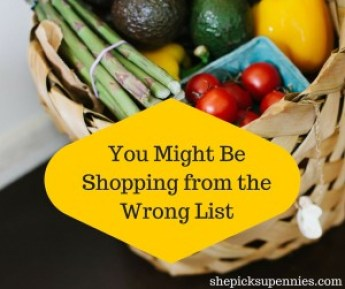 You Might Be Shopping from the Wrong List