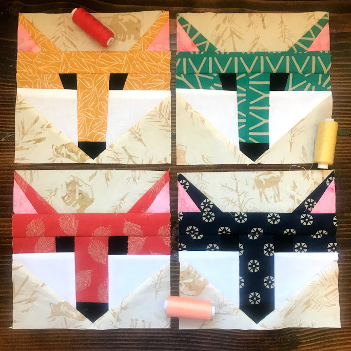 Fox Paper Piecing Pattern