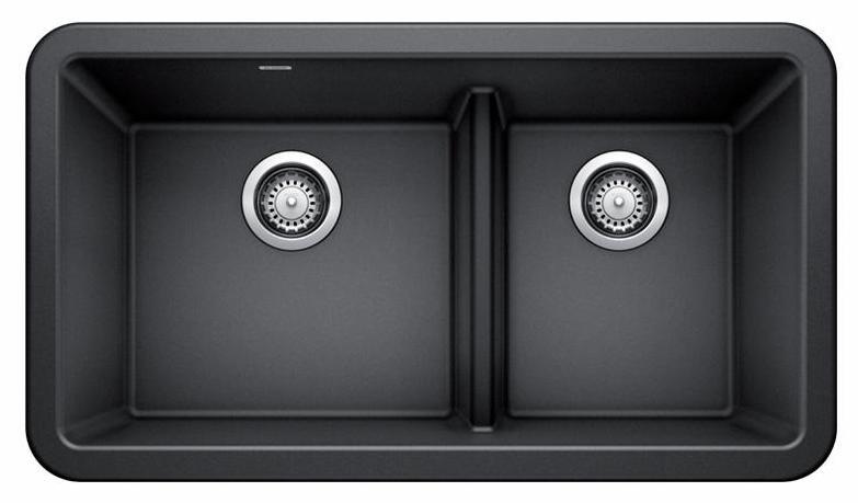 ikon 33 1 75 bowl low divide apron front silgranit sink