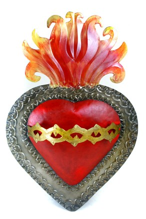 Sacred Heart in tin