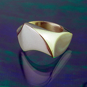Silver Wing ring of Which Way ring set - other view