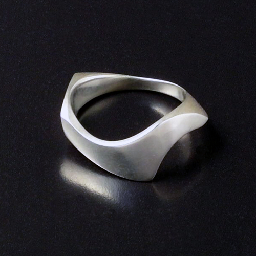 silver Sylph ring from Which Way series -another view
