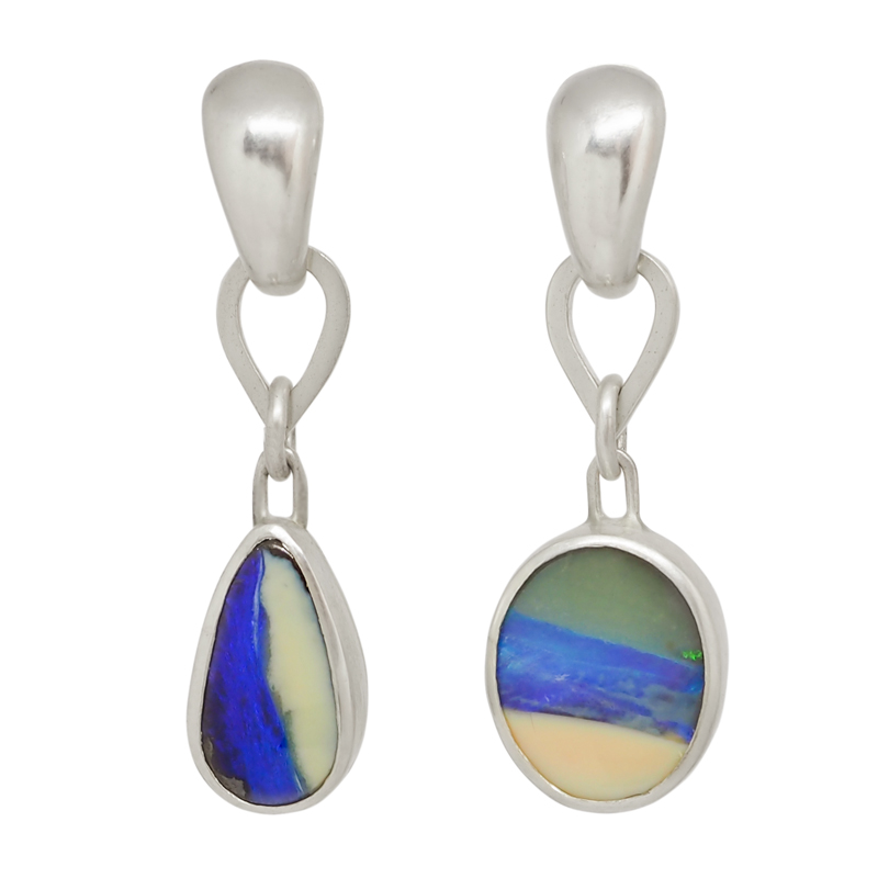 Sterling Silver Boulder Opal earrings