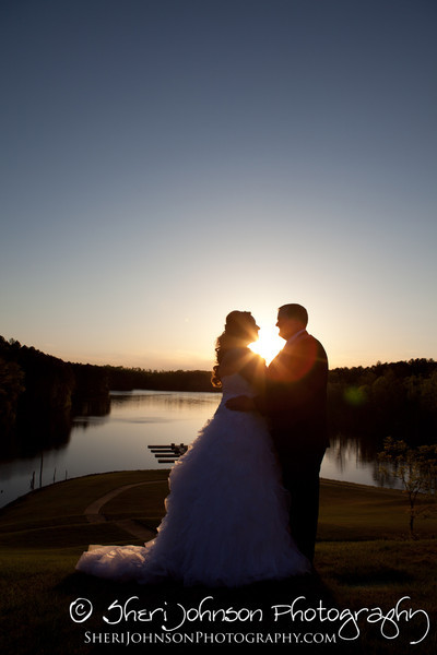 Crystal Falls Dawsonville Wedding Bride & Groom Sunset Portrait
