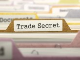 """A folder labeled """"Trade Secret"""" while every other label is blurred out."""