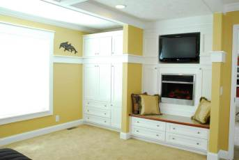 New Moon Master Bedroom Entertainment Center