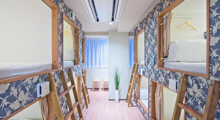 BEST HOSTELS IN JAPAN: Hostel Yu - Luxury Mixed Dormitory