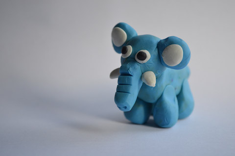 elephant-from-plasticine