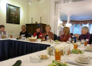 Foremothers of Title IX gather at a luncheon reunion at the National Woman's Democratic Club in Washington, D.C., Jan. 26, 2015.