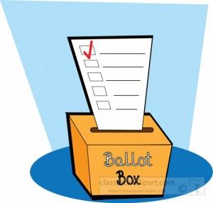 Ballot Box With Ballot