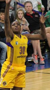 Former Stanford star Nneka Ogwumike led her team in the 2016 WNBA finals and was league MVP. (Courtesy Wikimedia/SusanLesch/Creative Commons)