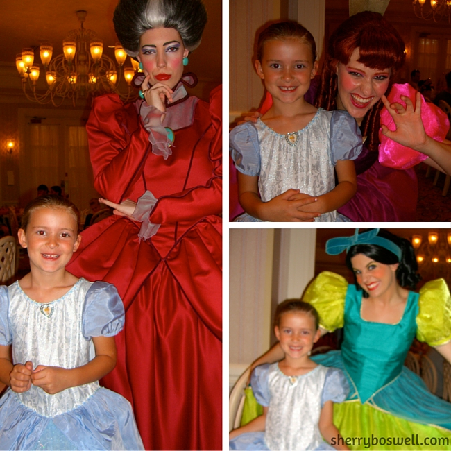"Stepmother, Drizella and Anastasia at 1900 Park Fare add ""character: to the Grand Floridian Resort dining."