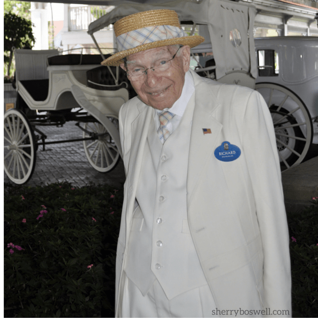 Richard Gerth greeting guests of the Grand Floridian