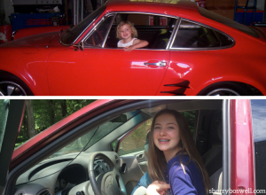 then and now: my daughter at 3 and at 14